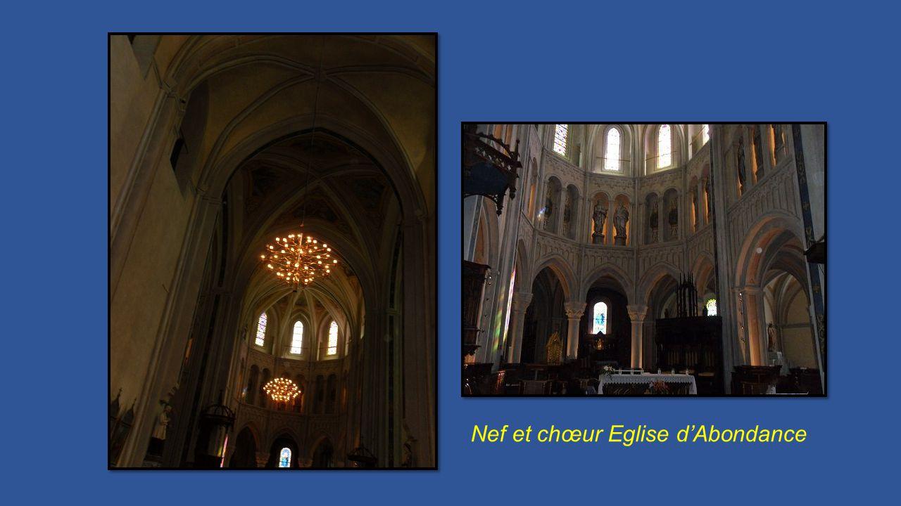 Nef et chœur Eglise d'Abondance