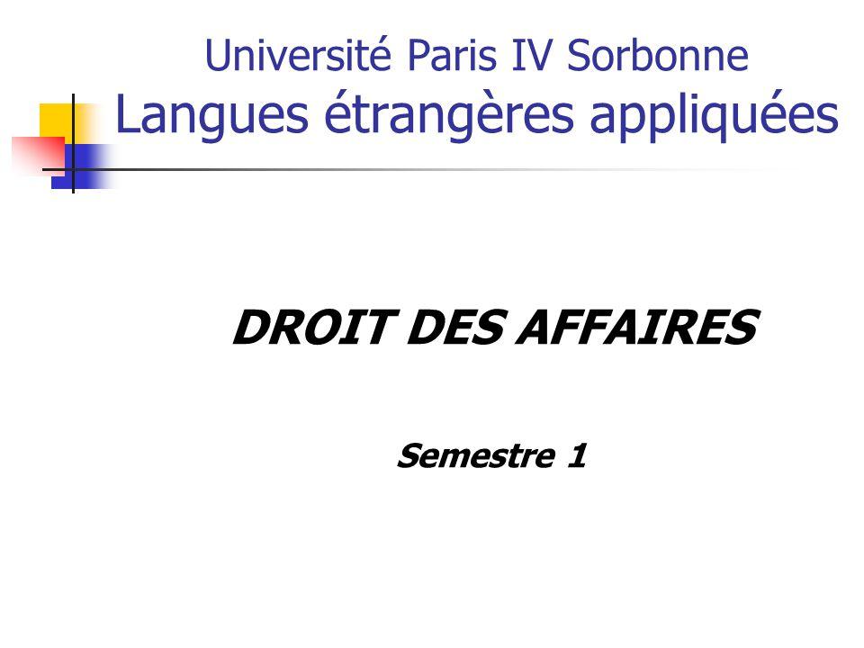 Université Paris IV Sorbonne Langues étrangères appliquées
