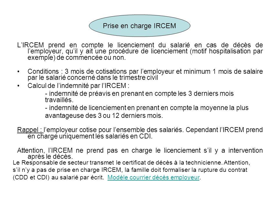 Prise en charge IRCEM