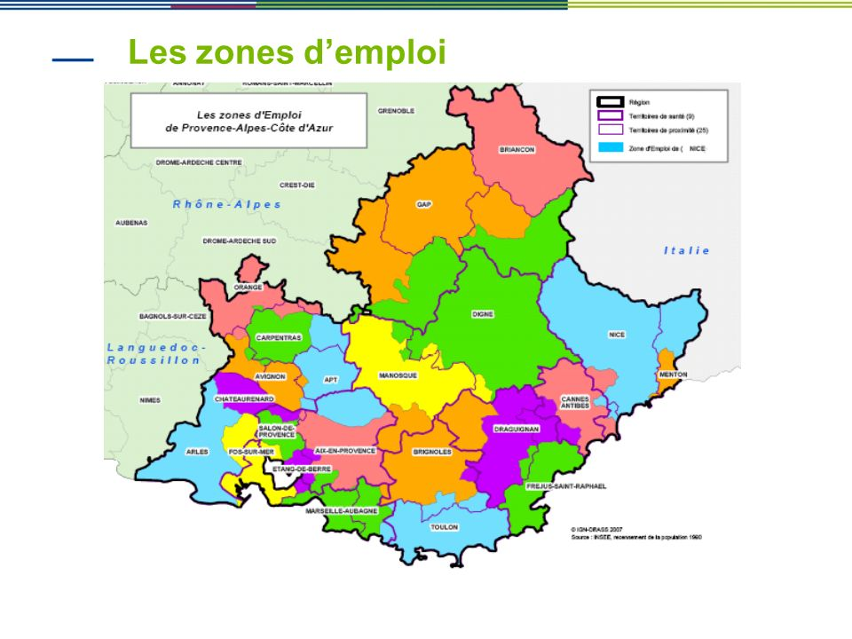 Les zones d'emploi