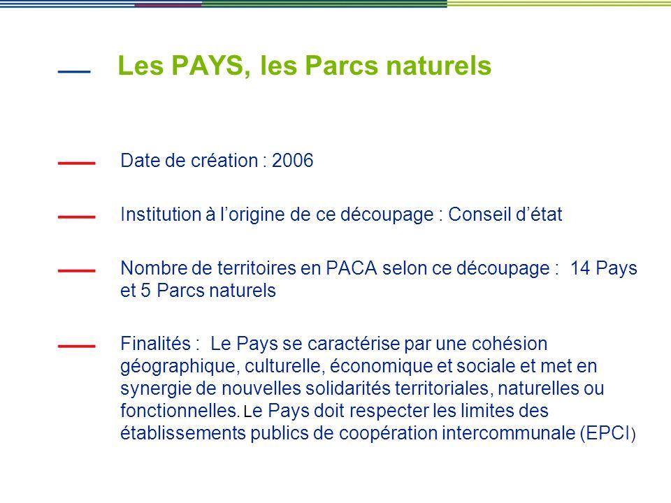 Les PAYS, les Parcs naturels