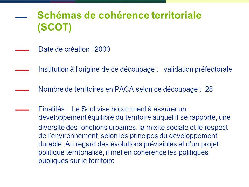 Schémas de cohérence territoriale (SCOT)