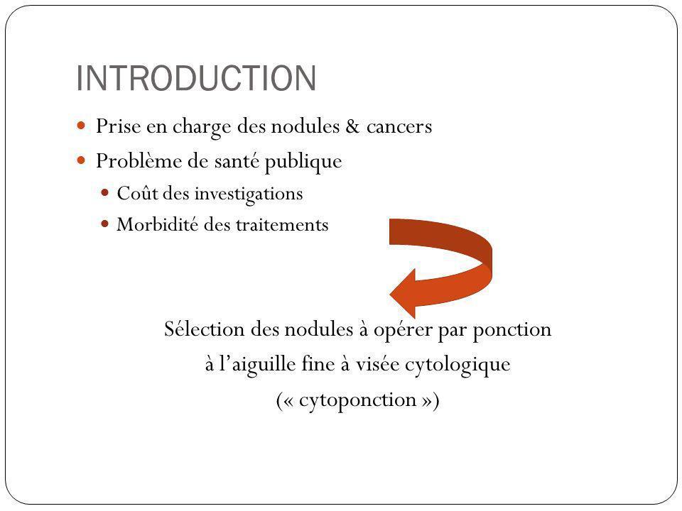 INTRODUCTION Prise en charge des nodules & cancers