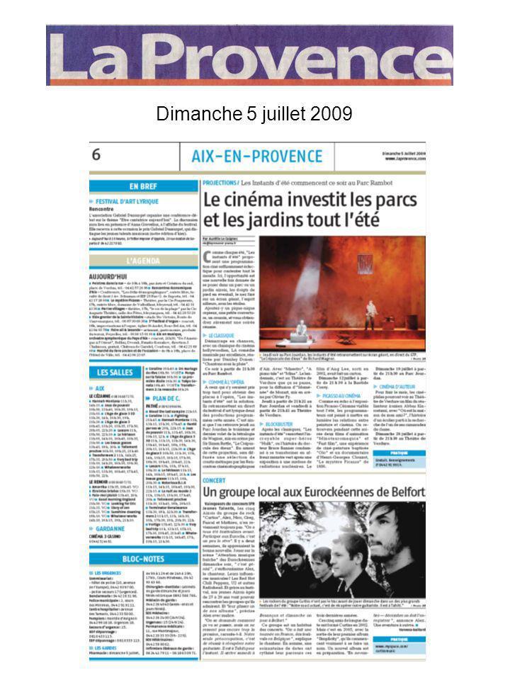 Dimanche 5 juillet 2009