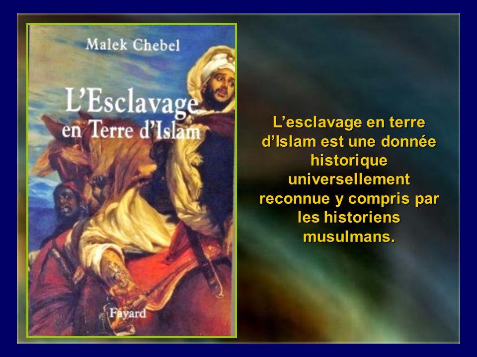 L'esclavage en terre d'Islam est une donnée historique universellement reconnue y compris par les historiens musulmans.