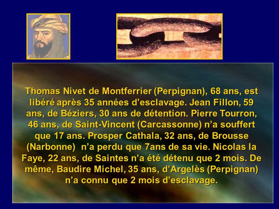 Thomas Nivet de Montferrier (Perpignan), 68 ans, est libéré après 35 années d'esclavage.