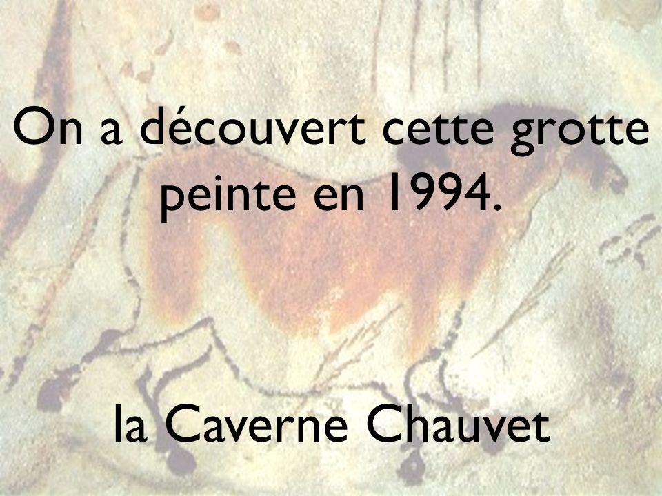 On a découvert cette grotte peinte en 1994.