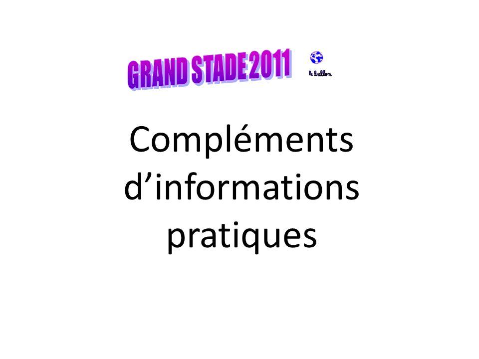 Compléments d'informations pratiques