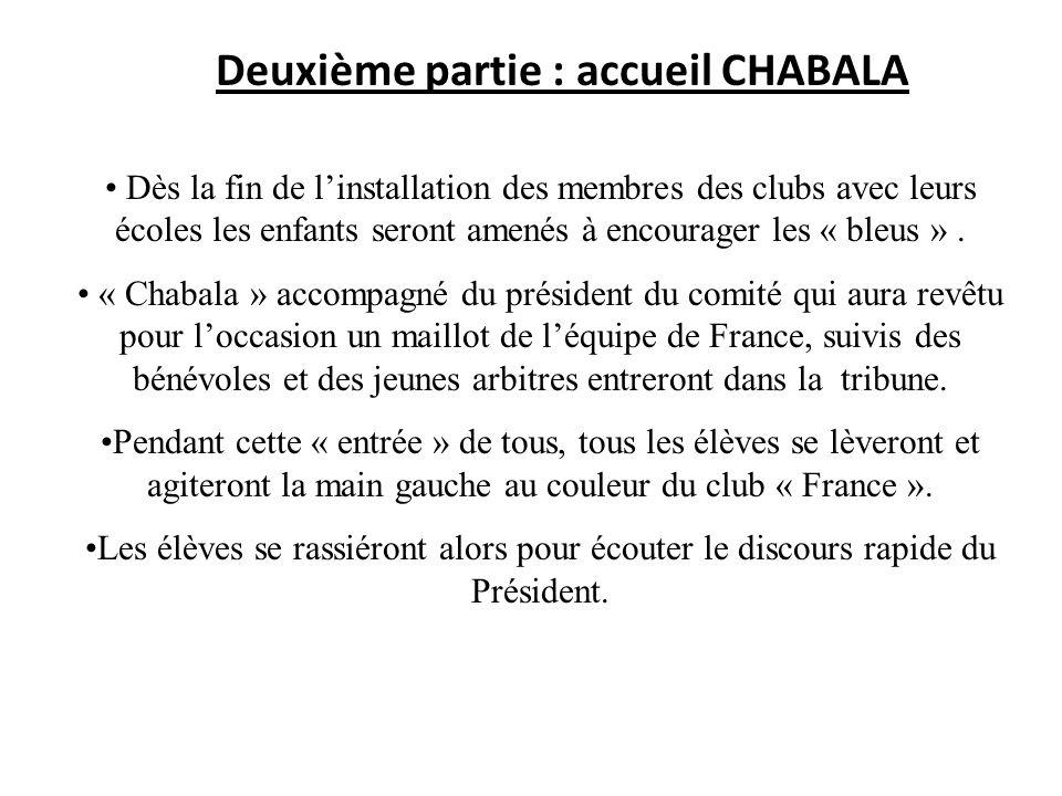 Deuxième partie : accueil CHABALA