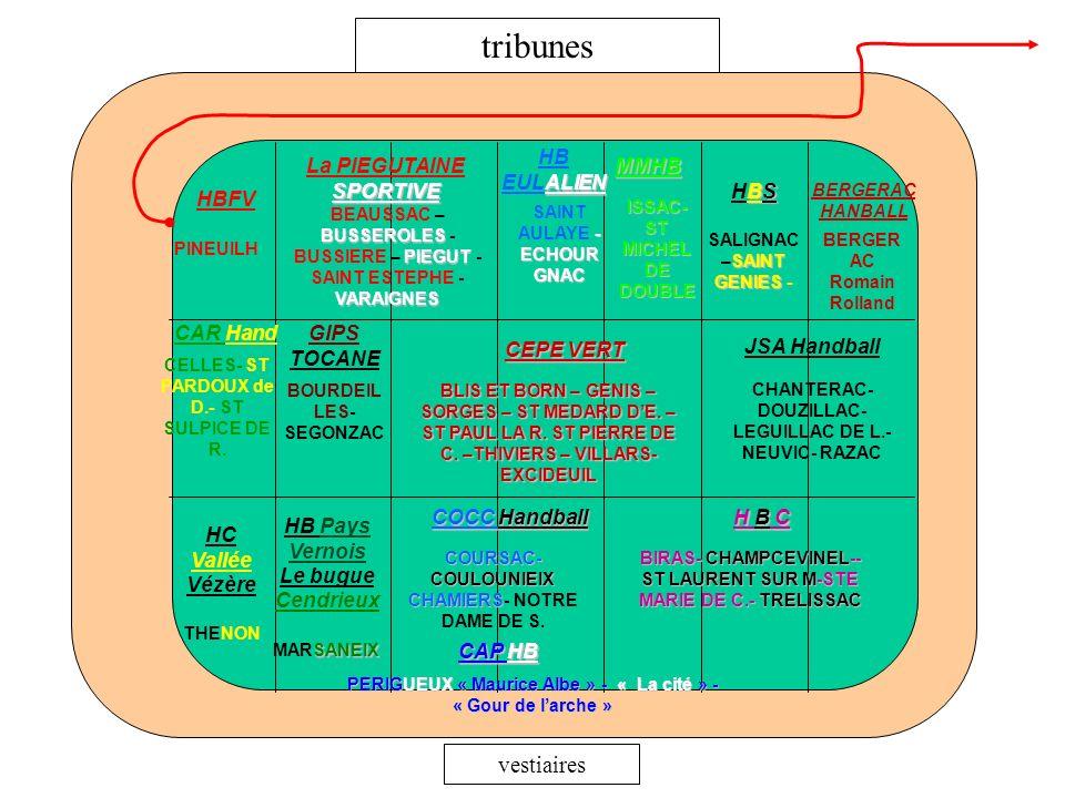 tribunes vestiaires HB EULALIEN La PIEGUTAINE SPORTIVE MMHB HBS HBFV