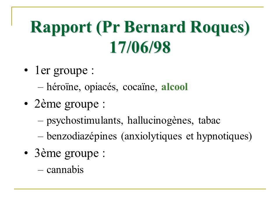 Rapport (Pr Bernard Roques) 17/06/98