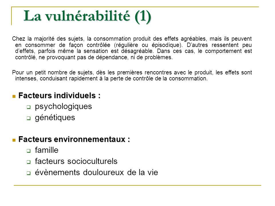 La vulnérabilité (1) psychologiques génétiques famille