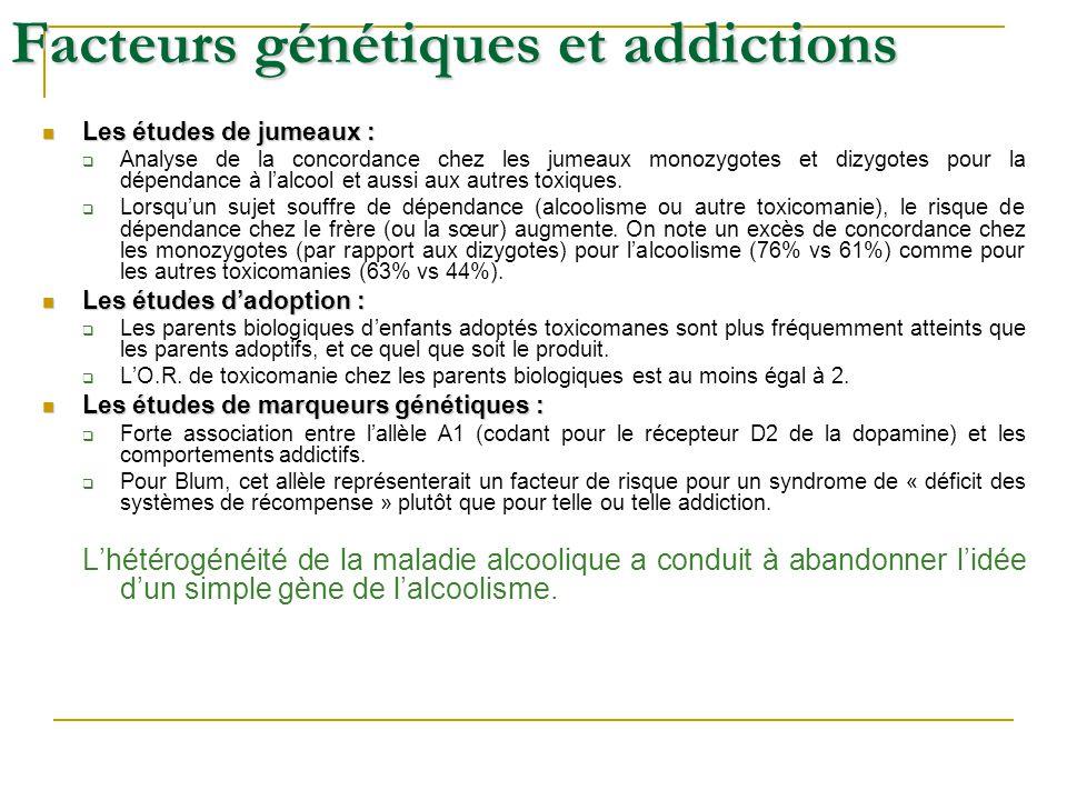 Facteurs génétiques et addictions