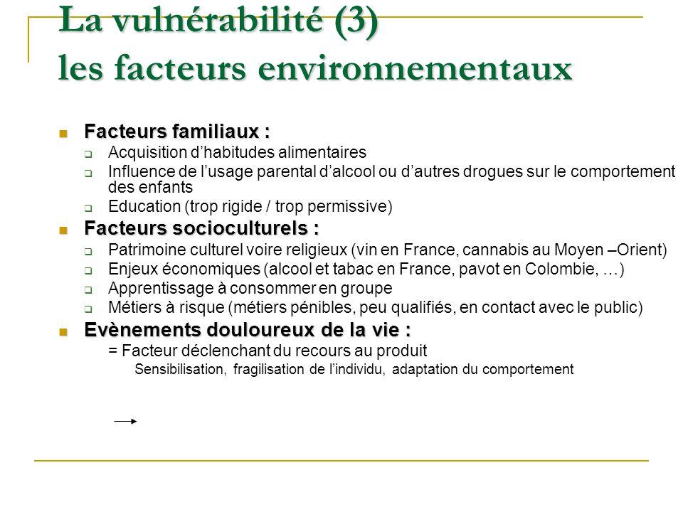 La vulnérabilité (3) les facteurs environnementaux