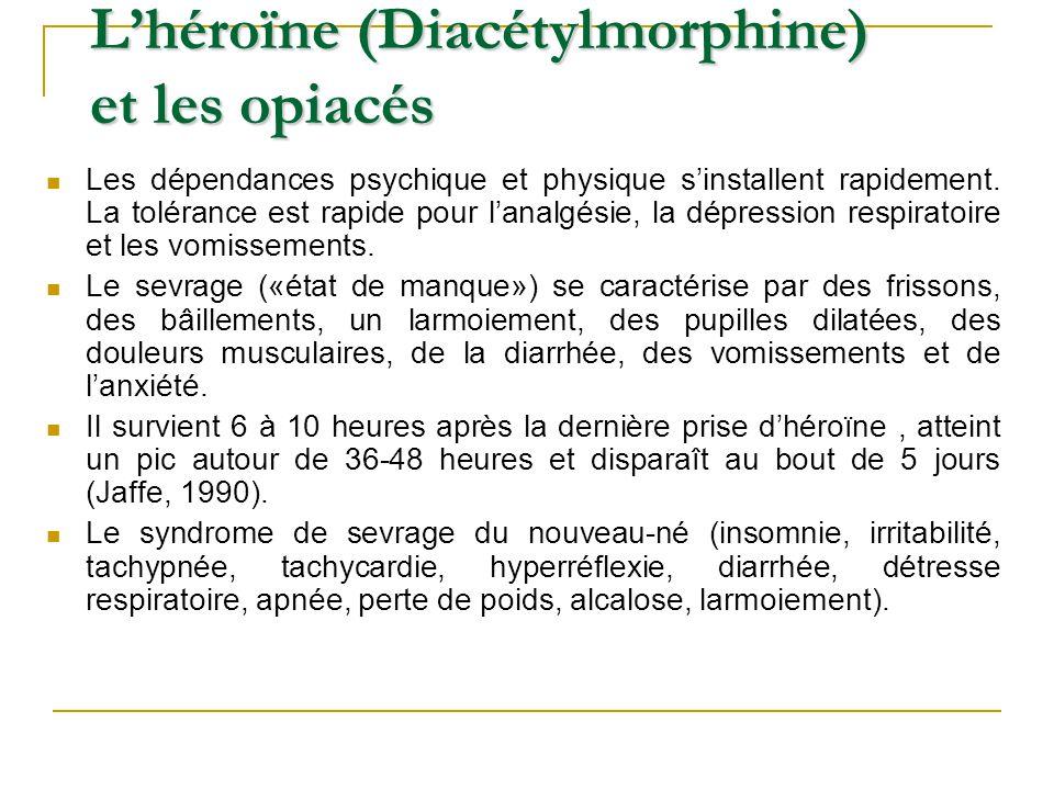 L'héroïne (Diacétylmorphine) et les opiacés