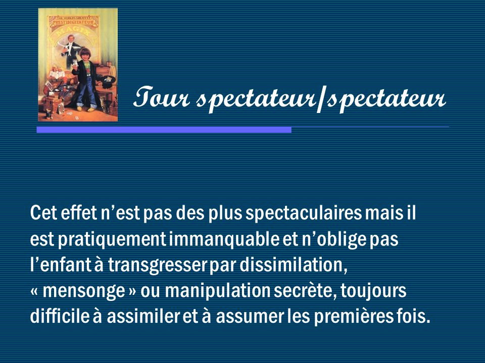 Tour spectateur/spectateur