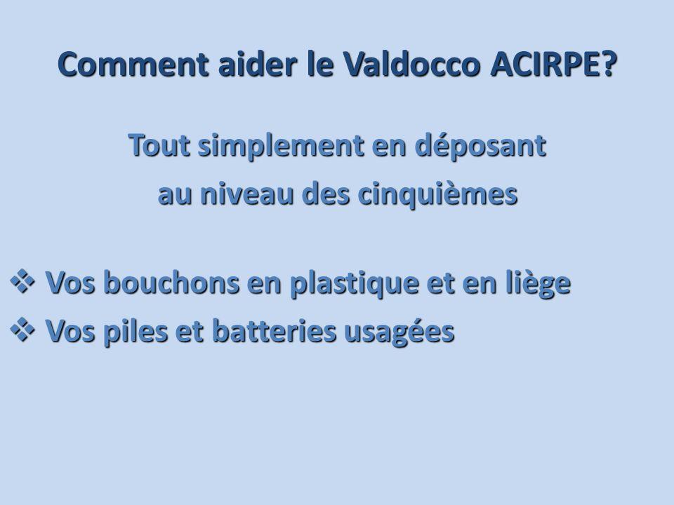 Comment aider le Valdocco ACIRPE