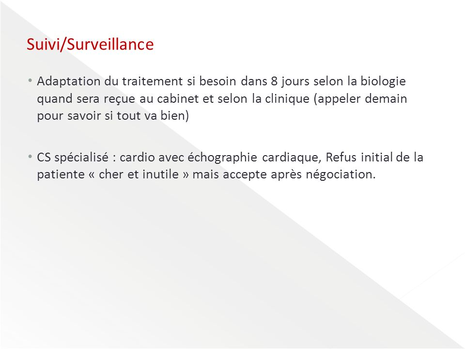 Suivi/Surveillance