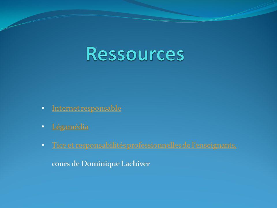 Ressources Internet responsable Légamédia