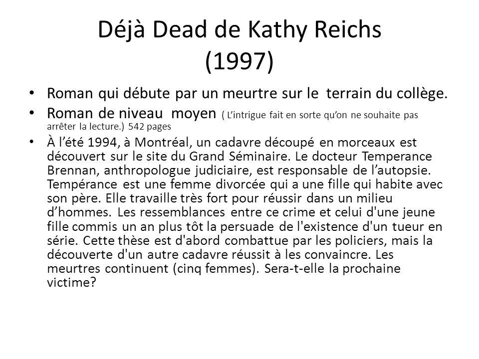 Déjà Dead de Kathy Reichs (1997)