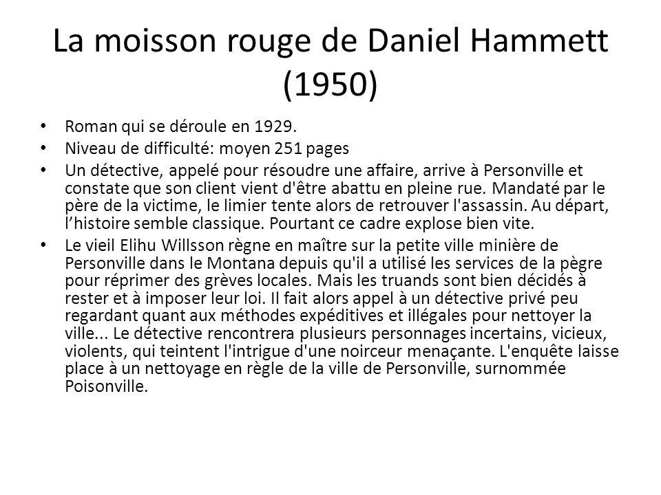 La moisson rouge de Daniel Hammett (1950)