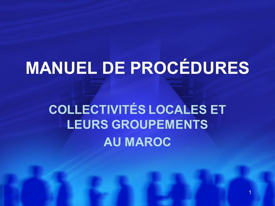 COLLECTIVITÉS LOCALES ET LEURS GROUPEMENTS AU MAROC