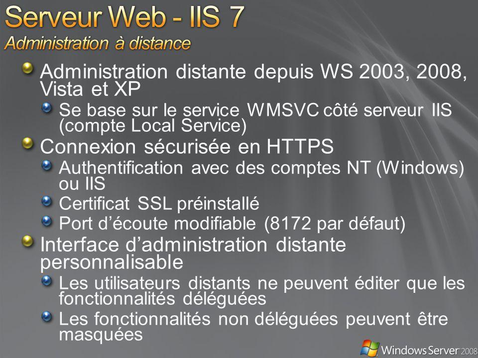 Serveur Web - IIS 7 Administration à distance