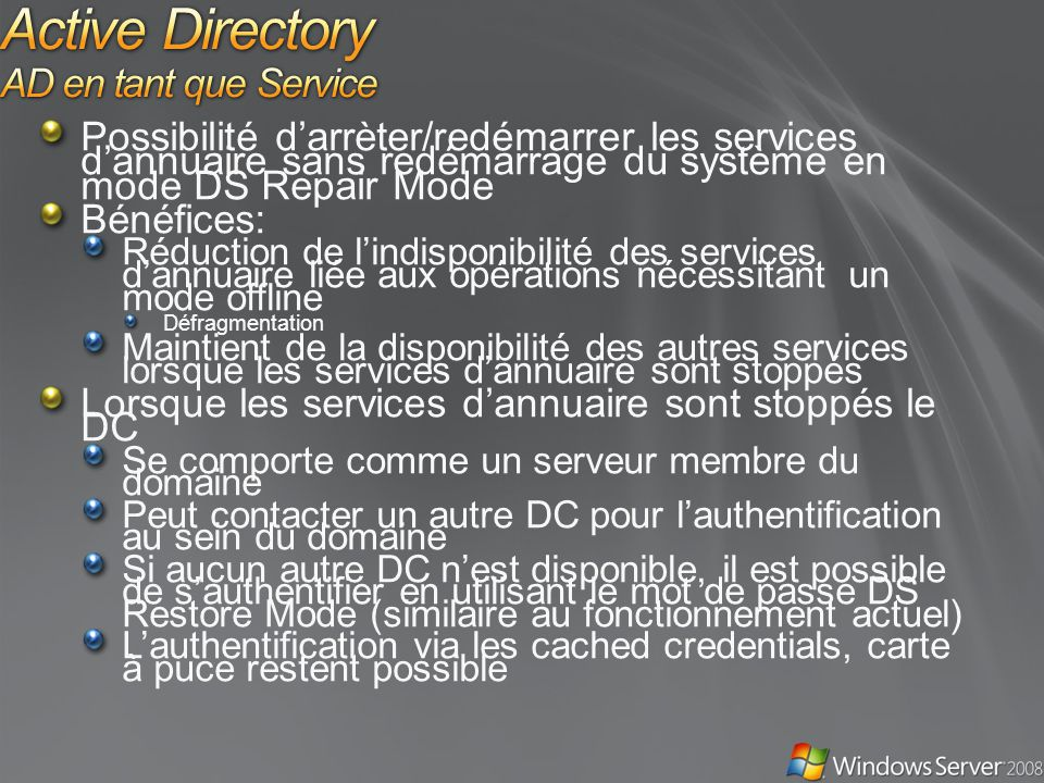 Active Directory AD en tant que Service
