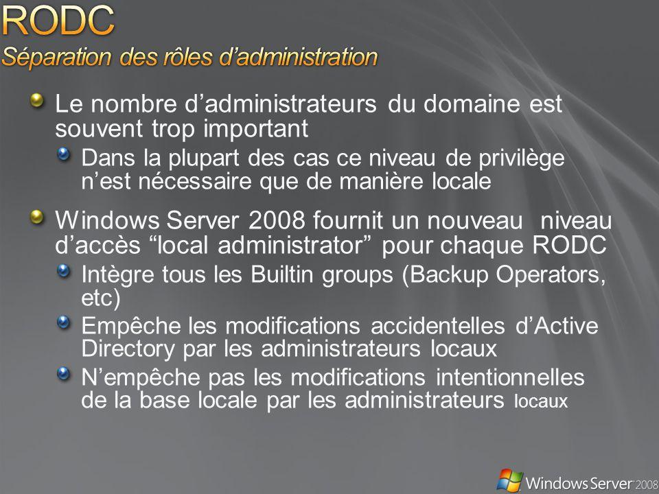 RODC Séparation des rôles d'administration