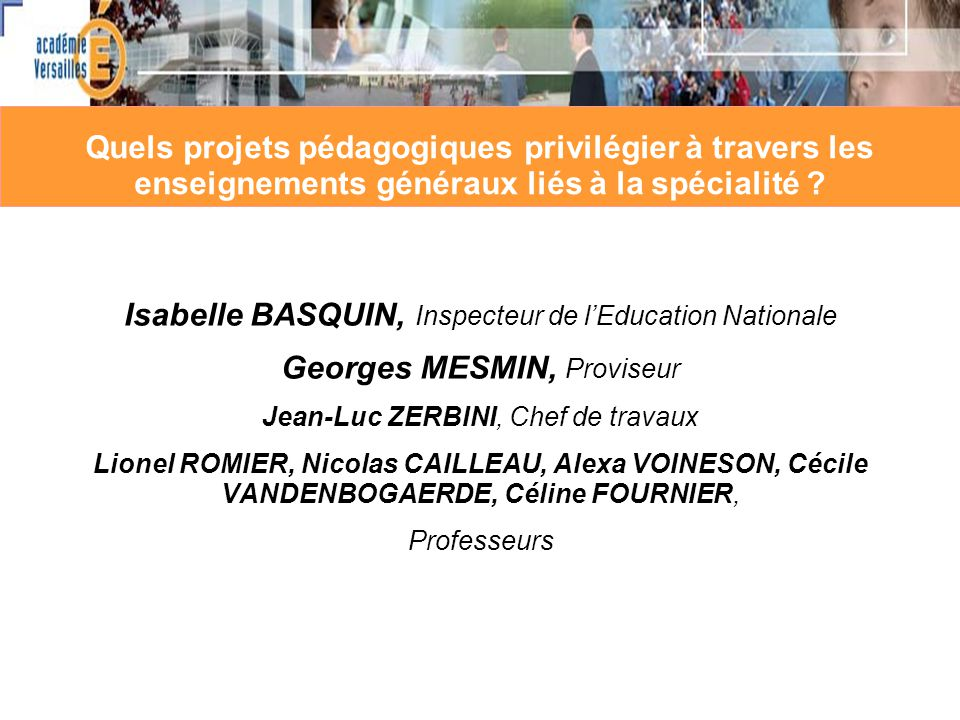 Isabelle BASQUIN, Inspecteur de l'Education Nationale