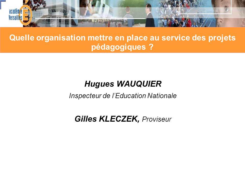 Gilles KLECZEK, Proviseur