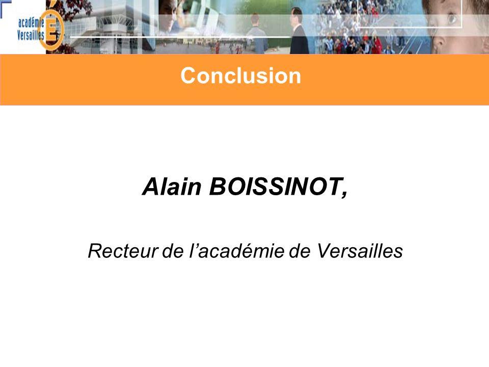 Alain BOISSINOT, Recteur de l'académie de Versailles