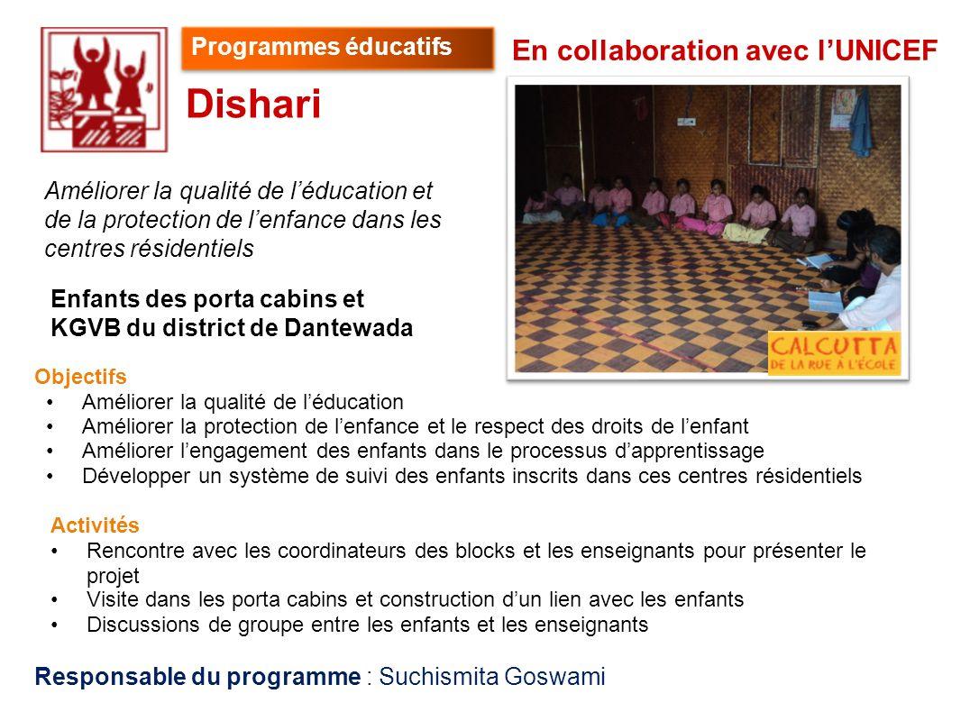 Dishari En collaboration avec l'UNICEF Programmes éducatifs