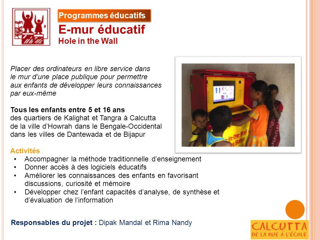 E-mur éducatif Programmes éducatifs Hole in the Wall