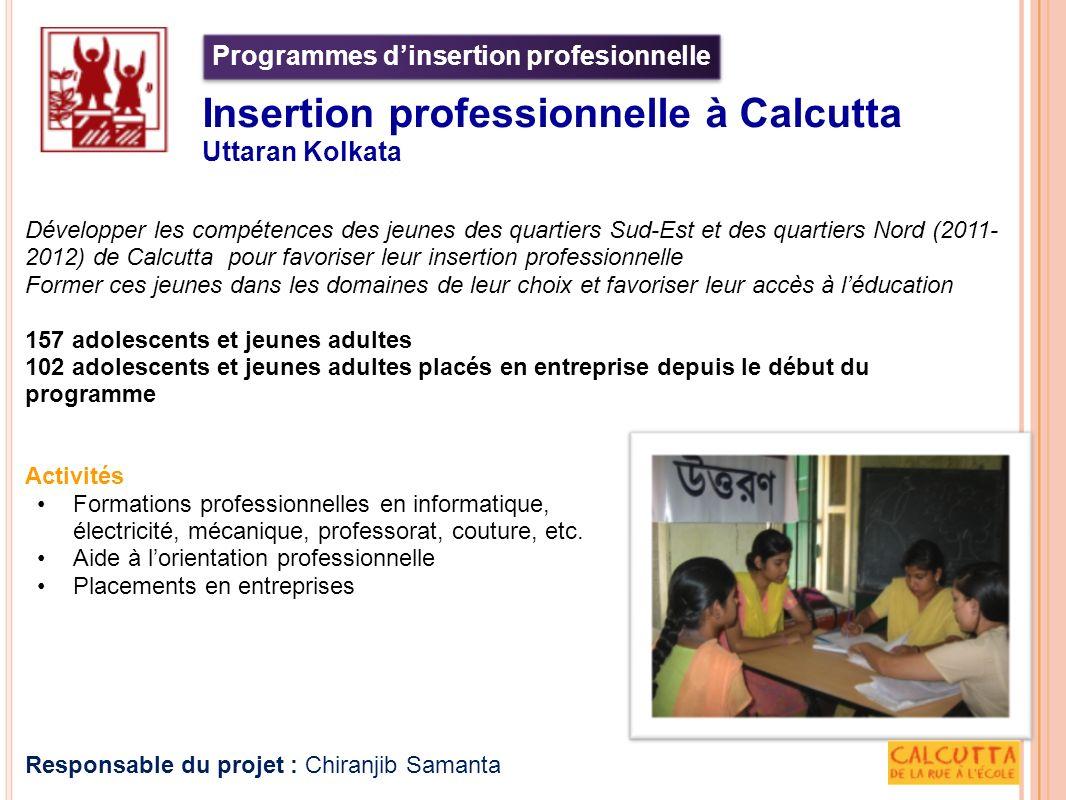 Programmes d'insertion profesionnelle