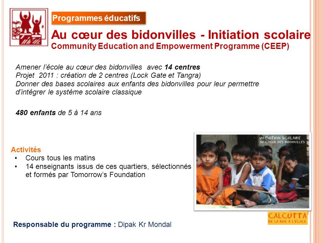 Au cœur des bidonvilles - Initiation scolaire
