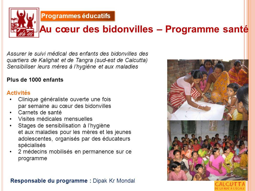 Au cœur des bidonvilles – Programme santé