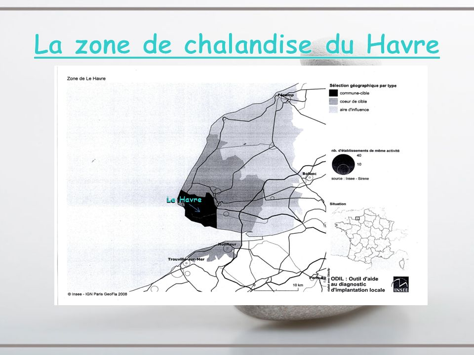La zone de chalandise du Havre