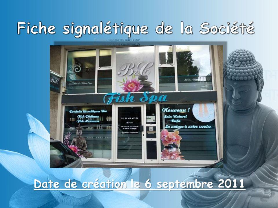 Fiche signalétique de la Société Date de création le 6 septembre 2011