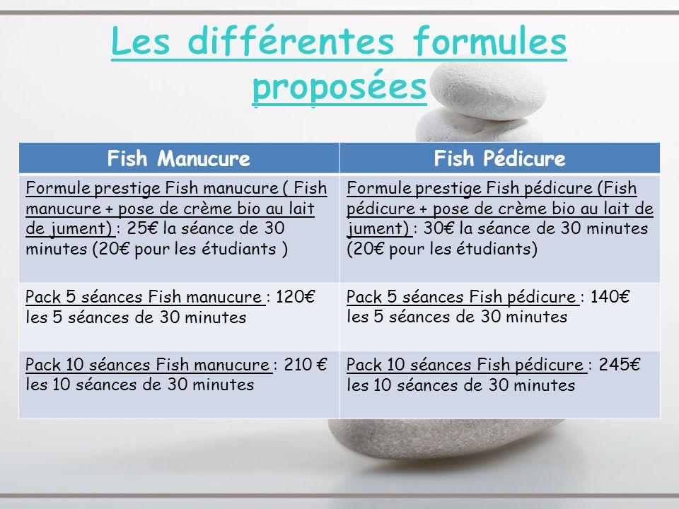 Les différentes formules proposées