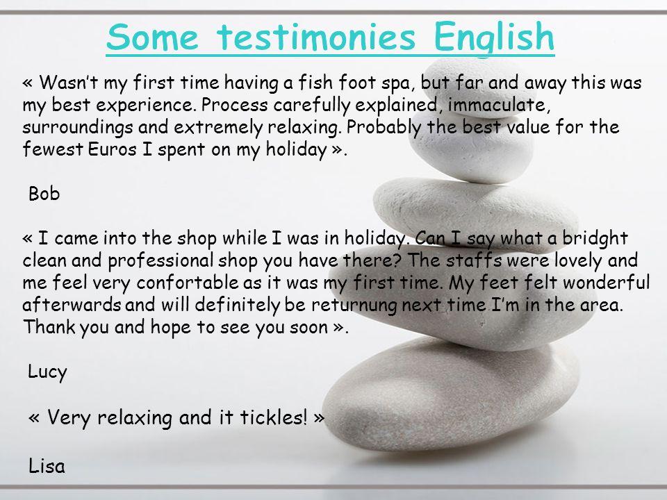 Some testimonies English
