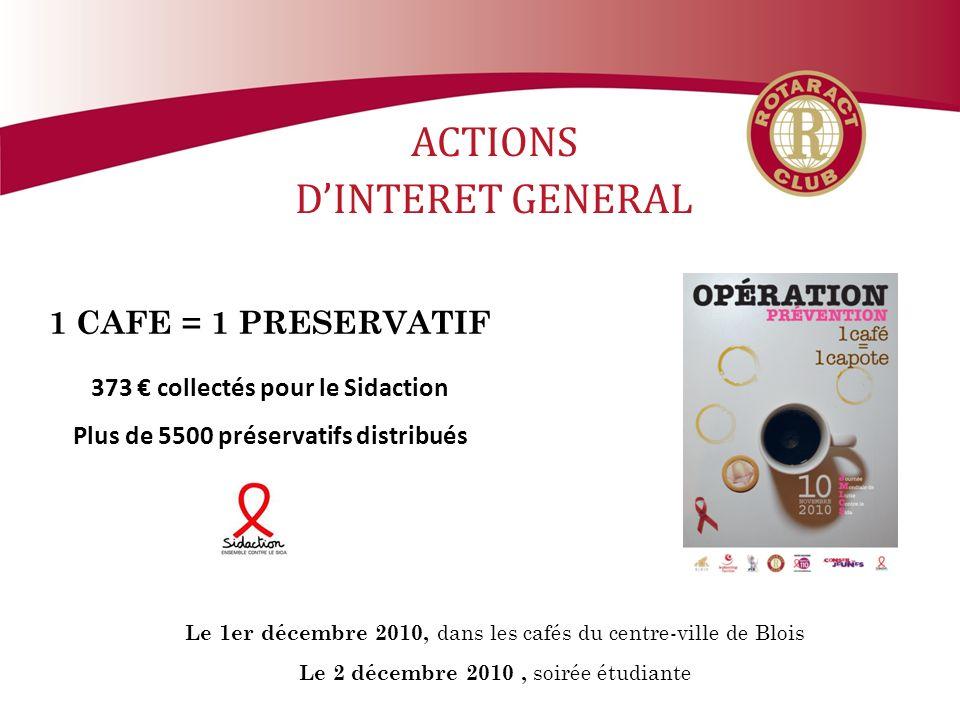 373 € collectés pour le Sidaction Plus de 5500 préservatifs distribués