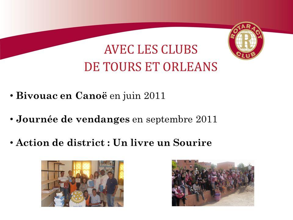 AVEC LES CLUBS DE TOURS ET ORLEANS Bivouac en Canoë en juin 2011