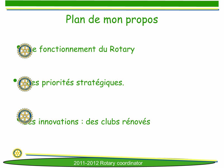 Plan de mon propos Le fonctionnement du Rotary