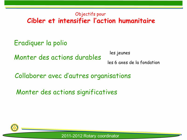 Cibler et intensifier l'action humanitaire