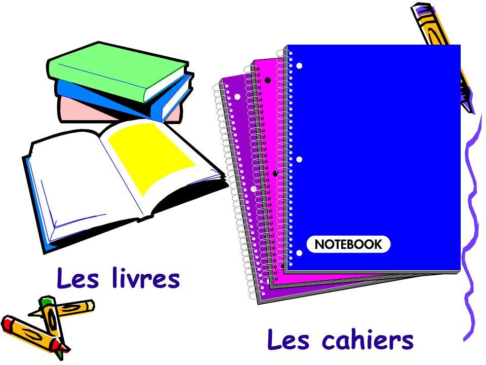Les livres Les cahiers