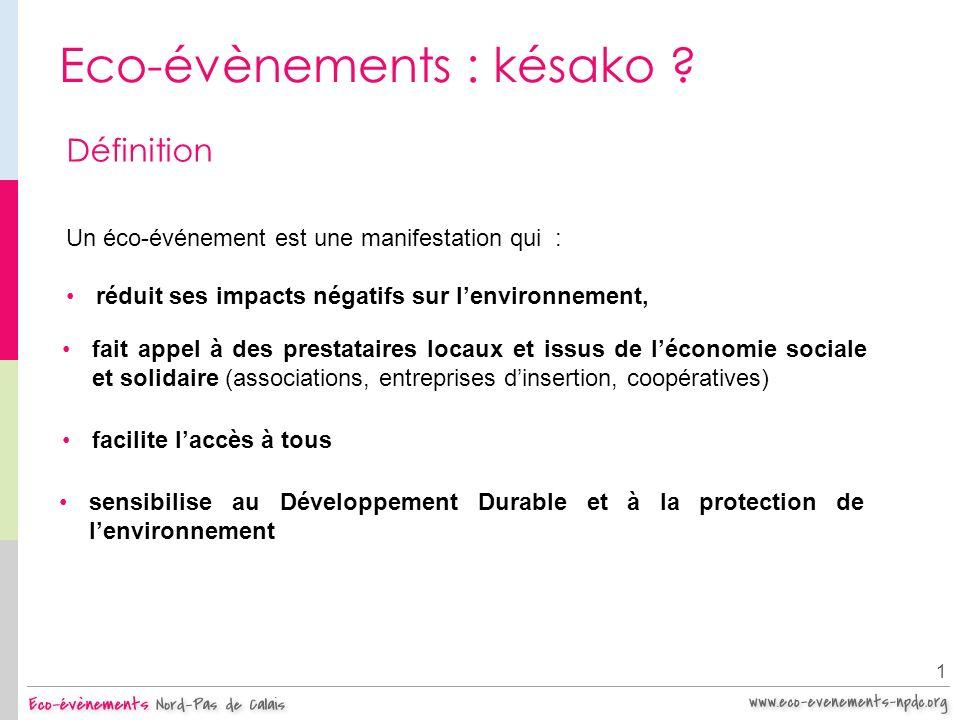Eco-évènements : késako