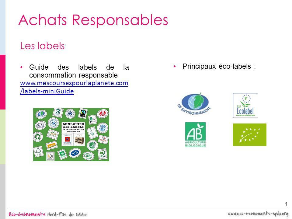 Achats Responsables Les labels