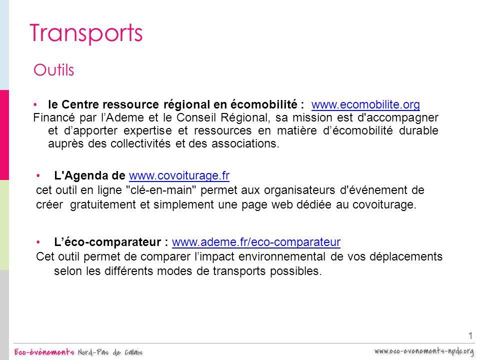 Transports Outils. le Centre ressource régional en écomobilité : www.ecomobilite.org.