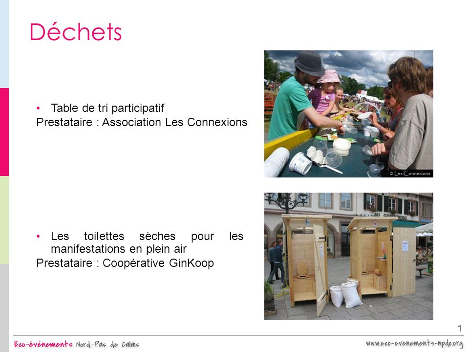 Déchets Table de tri participatif
